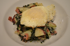 ham and spinach hash