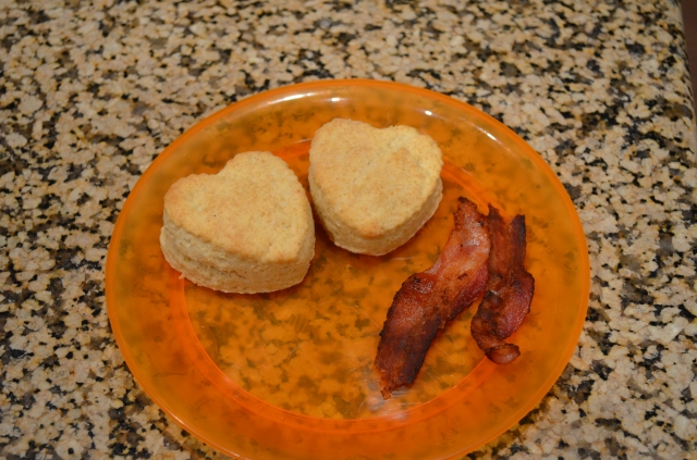 biscuits and bacon...now that's LOVE!
